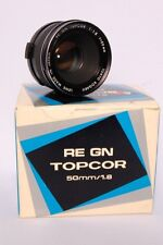 TOPCON RE TOPCOR GN 50mm 1.8 Lens Black in excellent condition in original box
