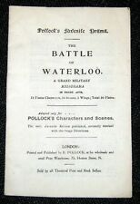 Toy Theatre - Original Playbook - Pollock's THE BATTLE OF WATERLOO