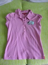 Damen Polo T-Shirt Shirt kurzarm rosa Gr. 36 38 MEXX Marke Patches