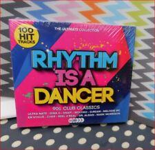 5xCD Rhythm is a Dancer 90s Club 100 Hits New Sealed Boxset Fast Freepost