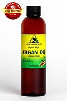 ARGAN OIL UNREFINED ORGANIC EXTRA VIRGIN MOROCCAN COLD PRESSED RAW PURE 4 OZ