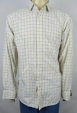 Ralph Lauren Regent Custom Fit White Check L/S Btn Front Dress Shirt XL COTTON