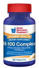 GNP Vitamin B-100 Complex Supplement Prolonged Release 50 Tab