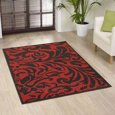 Tapis rouge à motif Oriental persane/orientale traditionnelle pour la maison