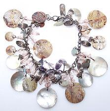 New SHELL Bracelet Ladies Charm Bangle Womens Costume Jewellery Bead Seaside