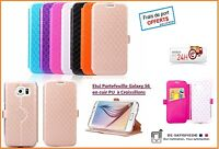 ETUI FLIP COVER LUXE PORTEFEUILLE pour SAMSUNG GALAXY S6 NEUF NEW