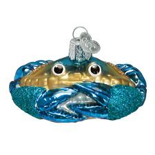 Old World Christmas Blue Crab (12184)X Glass Ornament w/ Owc Box