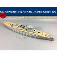 1/350 Wooden Deck for Trumpeter 05325 HMS Warspite 1942 Battleship Model Kits