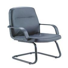 Jemini Rhone Aspect Cuir Visiteur chaise cantilever JAMBES NOIR [KF03432]