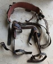 Vintage Buckingham Climbing Gear Complete Belt, Tree Pole Belt Strap Spikes Exc