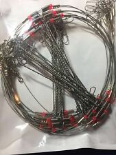 20Pcs  Wire Leader Trace with Snap & Beads & 3 Arms