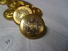 5 vintage cappotto delle armi Antico Oro Bottoni in Metallo 18 mm