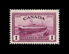 Canada Stamp #273 - Train Ferry, PEI (1946) $1 MNH OG