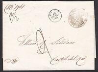 """Ambulante """"da Ancona a Bologna (1)"""" su lettera 1863 da Lugo"""
