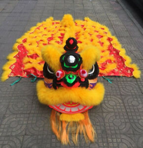 Lion Dance Costume Traditional Futshan Lion Dance Set Costume Shop Advertising