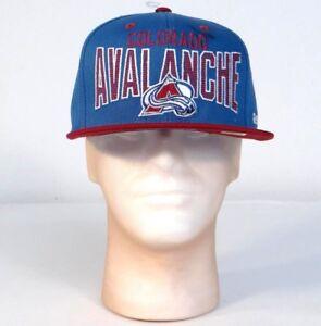 Reebok NHL Colorado Avalanche Blue Baseball Cap Hat Snapback Adult One Size NWT