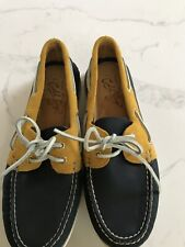 NWT $155 Sperry Top-Sider Gold Cup A/O Boat Shoe - Navy And Gold - Size 10