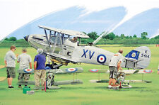 Hawker Hind Flying Model Aircraft Shuttleworth Blank Fathers Day Birthday Card