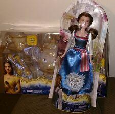 2 Disney Beauty And The Beast Toys Enchanted Objects Tea Set & Emma Watson Doll