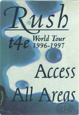 Rush 1996-97 T4e Tour Backstage Pass All Access Blue