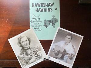 Autographed Vintage 1957 Hawkshaw Hawkins Grand Ole Opry Music Program