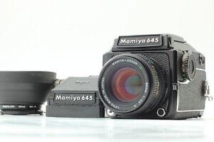 [Top MINT] MAMIYA M645 1000S Waist Level w/80mm F2.8 N + AE Finder From JAPAN