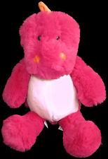 "Zara Home Pink White Dragon Dinosaur Plush Soft Toy Stuffed Animal 13"" Spain"