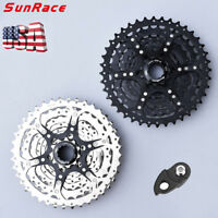 SunRace 9 Speed 11-40T Cassette & Adapter Alloy MTB Bike Shimano SRAM Freewheel