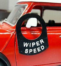 Classic Kit Car Cobra Lorry Metal Switch Tab Tag Badge Decal Label Wiper Speed