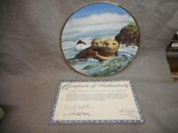"VINTAGE  ""HEART TO HEART"" BY RAY HARM 1991 COLLECTOR PLATE #678A W/COA N/R"