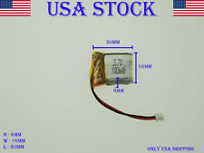 3.7V 100mAh 601620 Lithium Polymer LiPo Rechargeable Battery (USA STOCK)