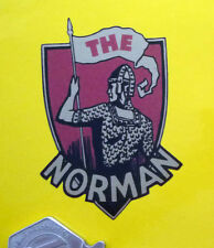 The Norman Shield Style Motorcycle Sticker 40x65mm Ashford England Classic Bike
