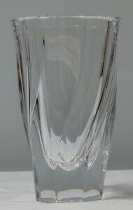 "ORREFORS Residence Vase Clear Crystal 6-1/8"" 6457021 by Olle Alberius new Sweden"