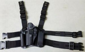 Tactical Polymer Drop Leg Holster, LEFT Hand for Glock 17 19 22 23 31 32 33