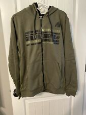 Gorilla Wear- Bowie Mesh Zipped Hoodie - Army Green - Size Large