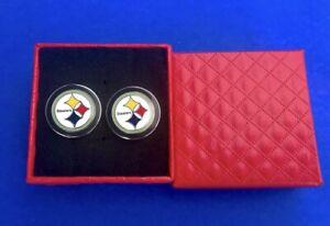 Pittsburgh Steelers Cuff Links Steelers Football Team Cuff Links US SELLER (NEW)
