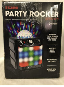 ION Party Rocker Effects Bluetooth Speaker with Microphone