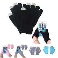 1 Pair Unisex Winter Warm Capacitive Knit Gloves Hand Warmer For Touches Screen
