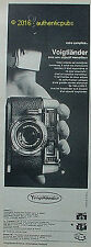 PUBLICITE VOIGTLANDER APPAREIL PHOTO VITORET VITOMATIC PERKEO DE 1966 FRENCH AD