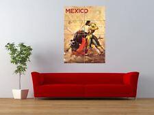 Travel Painting Mexico Matador Bullfight Giant Wall Art Poster Print