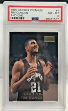 Tim Duncan 1997-98 Skybox Premium RC And One Insert #6 - PSA 8 - POP 2 - SPURS