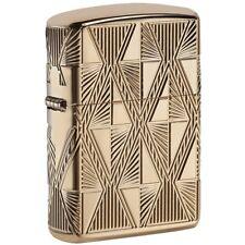 Zippo 29671, Armor, Diamond Design, Epoxy Inlay, High Polish Gold Plate Lighter