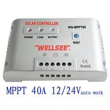 40A 12V 24V Regulador Solar Carga Solar Autoswitch MPPT Solar Panel Controller