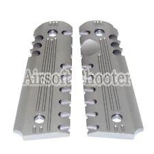 Airsoft Gear CNC Aluminum Pistol Grip Cover For Marui M1911/M.E.U. Charcoal Grey