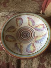 Denby Glyn Colledge bowl - Vintage 1950s, hand painted & Signed