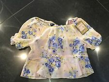 NWT Juicy Couture New & Genuine Ladies Cotton Floral Short Sleeved Top UK 8/10