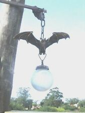 Fabulous GOTHIC Bat Chandelier! Solid Brass Vintage Globe  wOw Goth Medieval