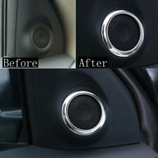 2x For Mitsubishi Outsider Sport Asx Rvr Chrome Pillar Stereo Speaker Cover Trim