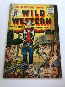 Wild Western #49 Kid Colt Atlas Comics 1956 VG+