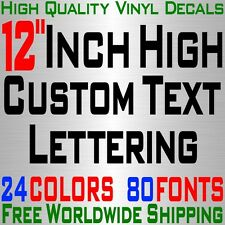 """Personalized 12"""" Custom Text Name Vinyl Decal Sticker Car Wall 16x Lettering max"""